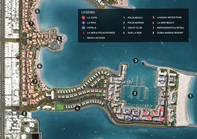Sur La Mer Townhouses by Meraas in Jumeirah Master Plan