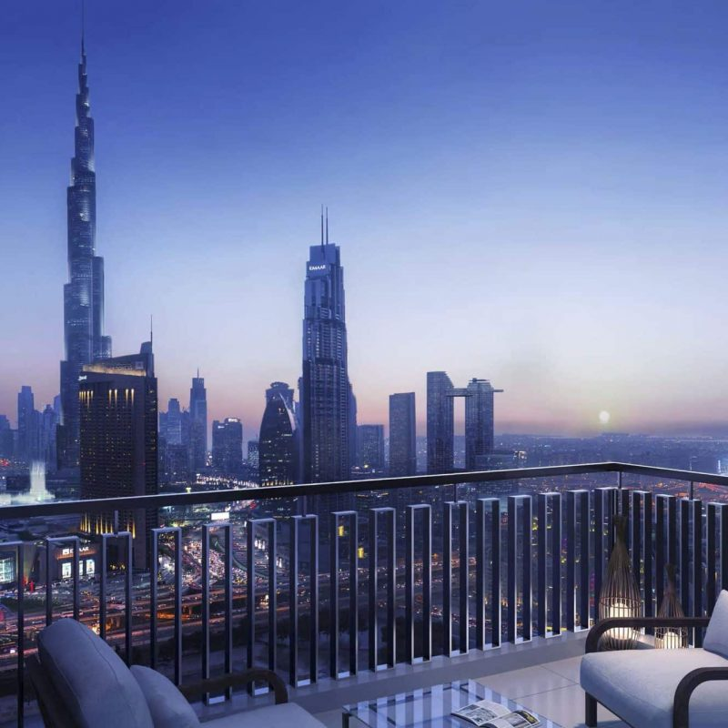 Downtown Views 2 by Emaar luxury apartments -Balcony