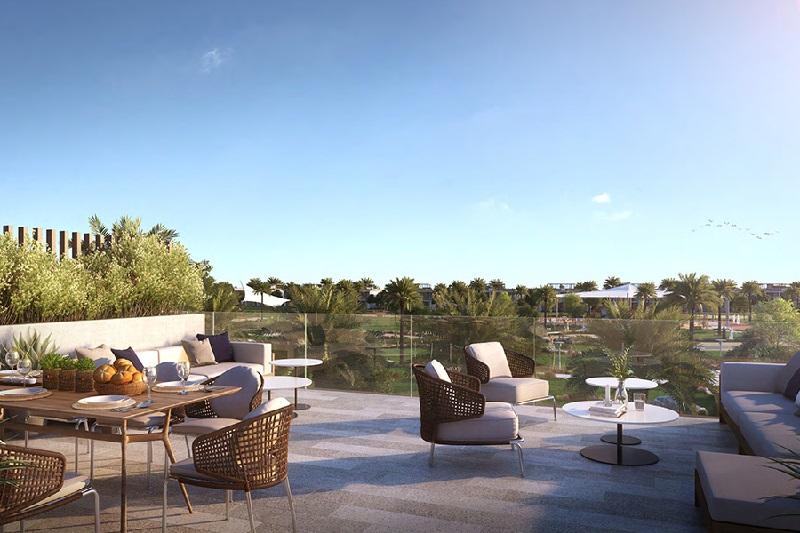 Golf Grove Villa Dubai Hills Estate - Terrace
