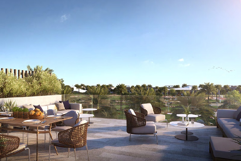 Golf Grove Villa Dubai Hills Estate - Terrace