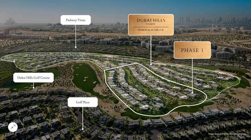 Dubai Hills Estate Emerald Villa Plot by Emaar for sale