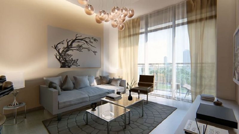 Samana Golf Avenue at Dubai Studio City DSC - Living room