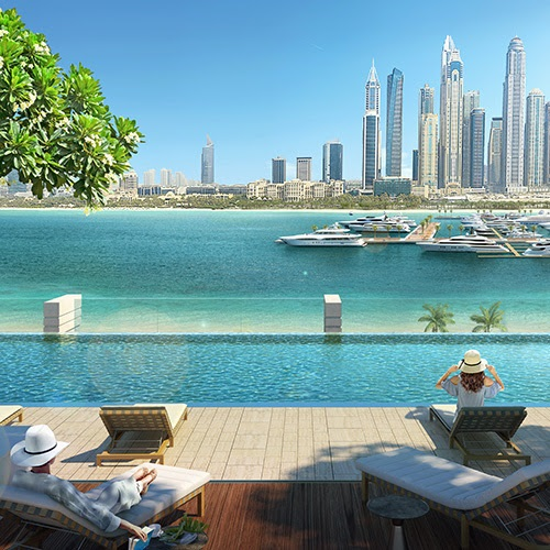 South Beach Waterfront Homes at Emaar Beachfront - Infinity-edge Swimming Pool
