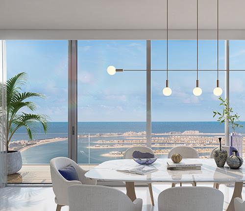 Beach Isle apartments floor-to-ceiling windows