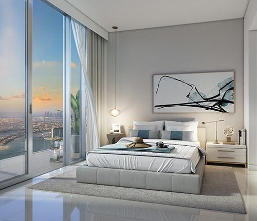 Beach Isle apartments master bedrooms with en-suite bathrooms
