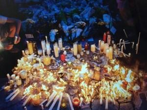 Candlelight vigil for Dr. Mayer, Robbinsville, NJ