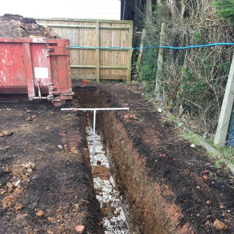 Measuring trench depth