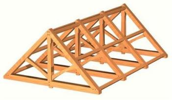 Simple 'King' Truss roof