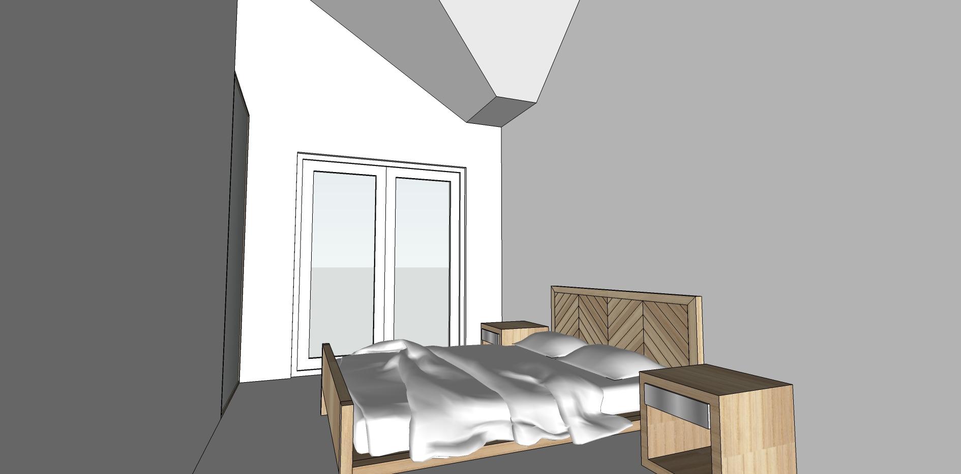 Upstairs 3D render