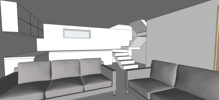 Downstairs 3D render