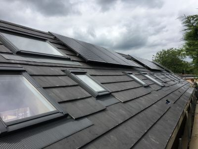 Solar panels fitted