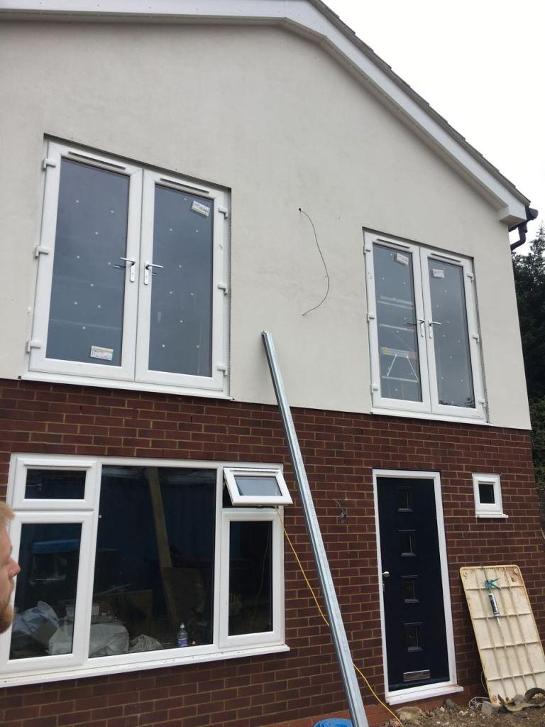 Windows and doors installed