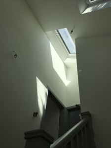 Stairwell and landing velux view from stairs