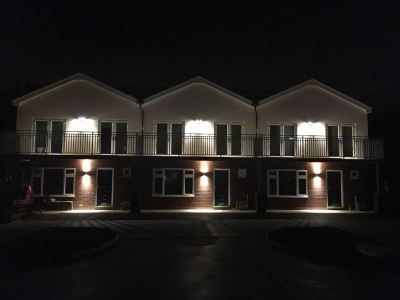 External lighting at night