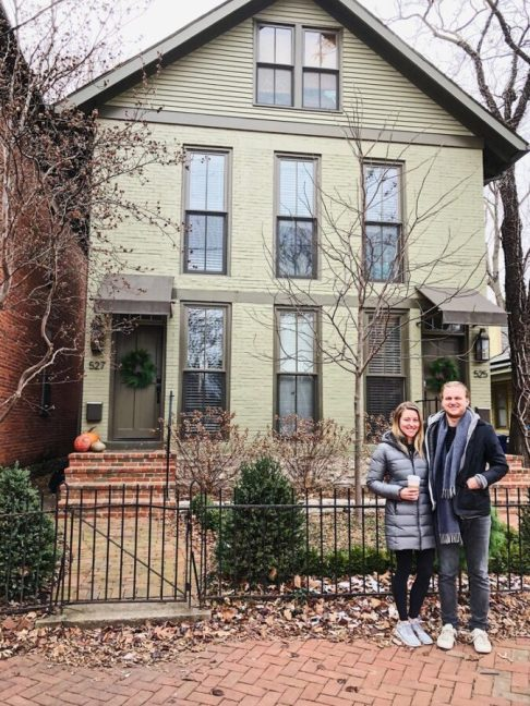 Sonny and Chelsey own this duplex in German Village and rent one side out on Airbnb.