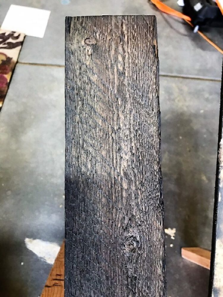 Distressed wood purchased from Home Depot.