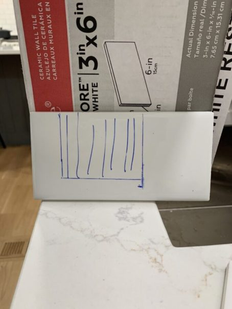 Cutting tile around outlets