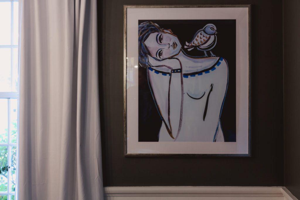 Dining room artwork by Juniper Briggs