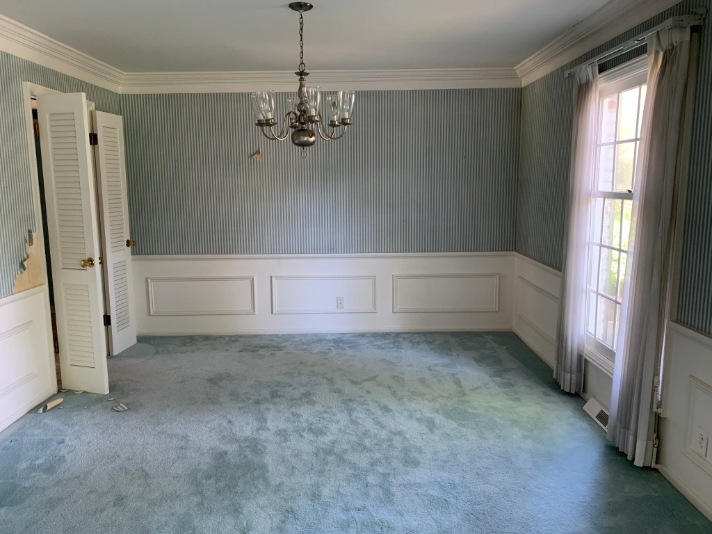 Before image of our dining room when we first moved into our home | Building Bluebird