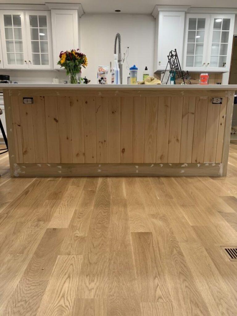 Island Installation in our Kitchen