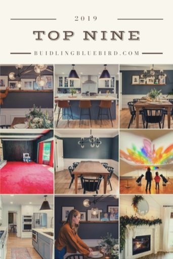 Top Nine most liked Instagram posts with my home renovation account   Building Bluebird #homerenovation #diyblogger #instagramtopnine