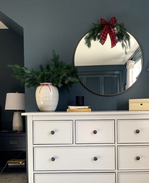 Add holiday cheer with leftover tree trimmings | Building Bluebird #holidaydecor #christmas #holiday