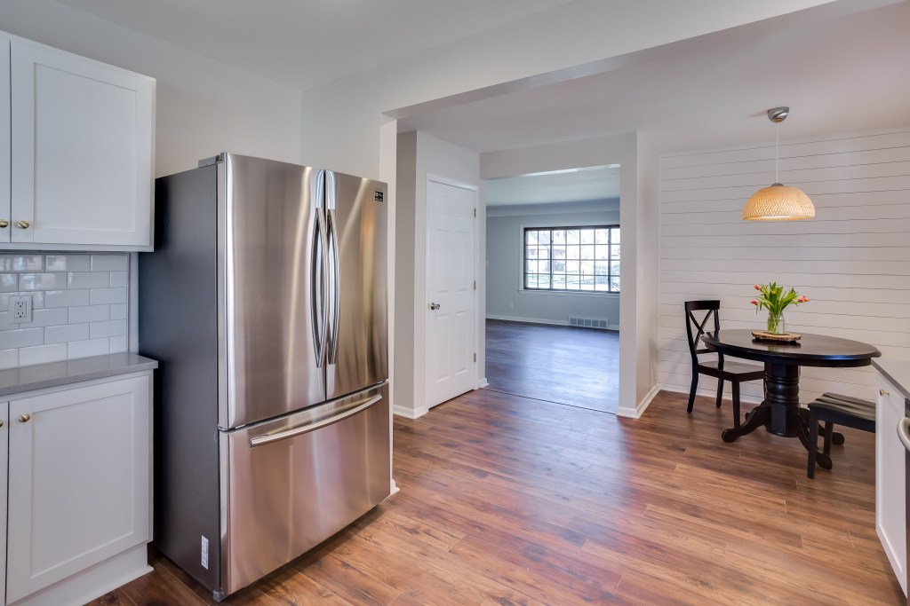 Open up doorways and remove doors to give the open concept feel