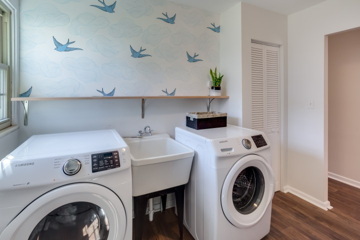 Updated laundry room with intentional design