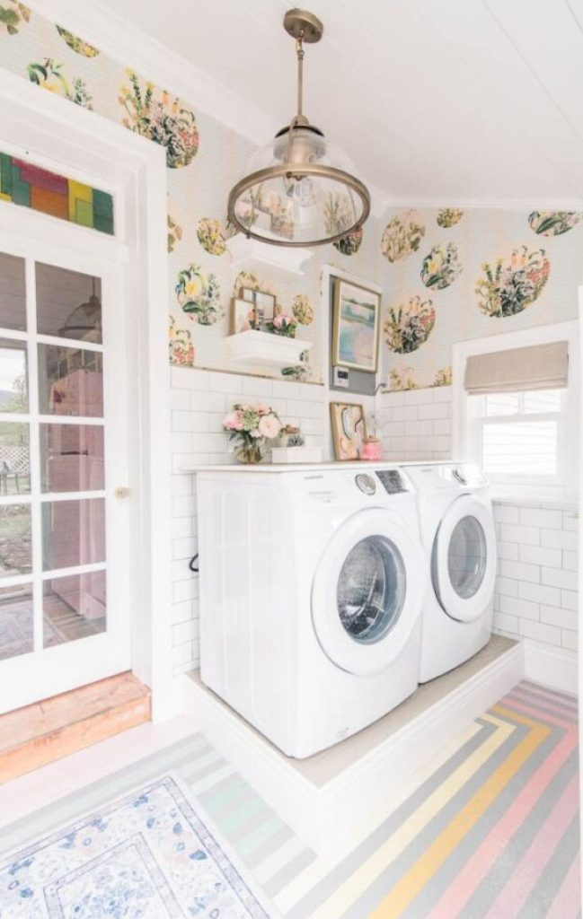 At Home With Ashley laundry room makeover