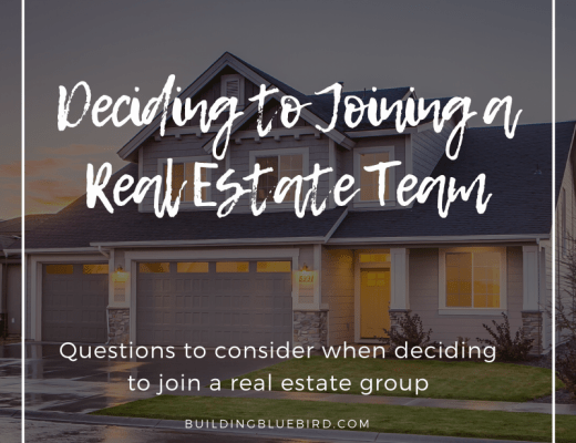 Deciding to join a real estate team