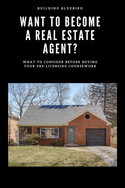 Thinking about becoming a real estate agent? Check out what to consider before buying your pre-licensing course work #realestate #realestateagent