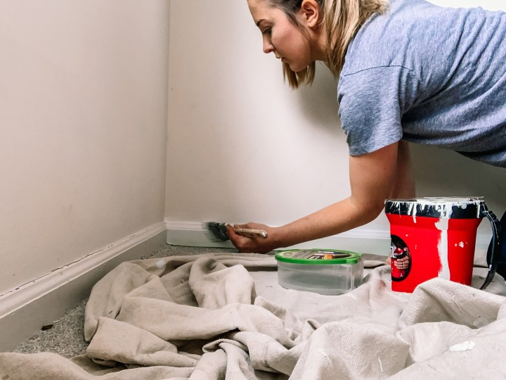 How to paint a carpeted room | Building Bluebird #diy #tutorial #frogtape