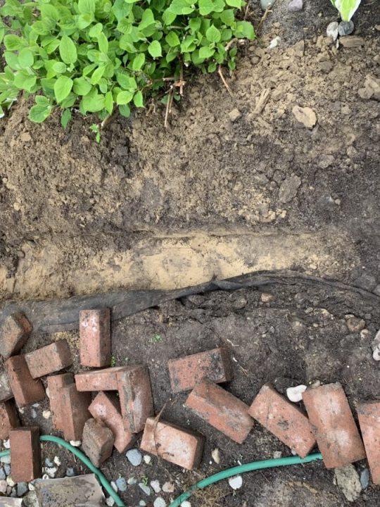 Beginner's DIY - How to install a brick border around your garden   Building Bluebird #tutorial #englishgarden #landscaping