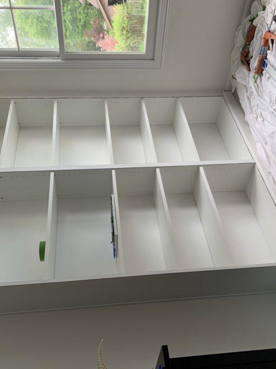 How to create a built-in bookshelf using two Ikea Billy bookcases   Building Bluebird #diyhack #homerenovation #ikeahack #shelfie #bookshelfstyling #organization
