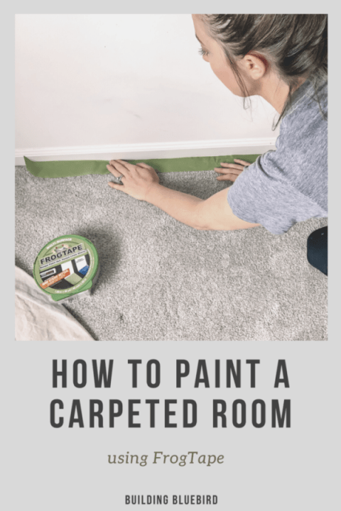 How to use FrogTape when Painting a Carpeted Room in 5 Simple Steps | Building Bluebird #tutorial #paint