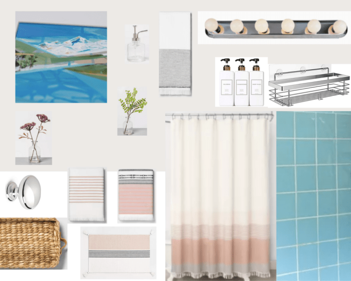 Retro bathroom mood board updates | Building Bluebird