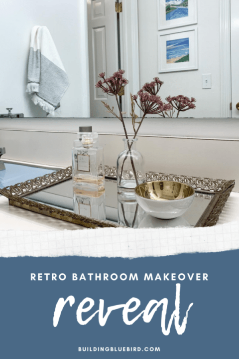 How to add function and style to a retro bathroom | Building Bluebird #bluetile #vintage #masterbathroom #bathroommakeover