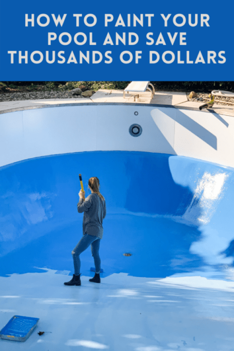We DIY'ed painting our pool and saved thousands of dollars! | Building Bluebird #tutorial #pool #painttutorial #homerenovation