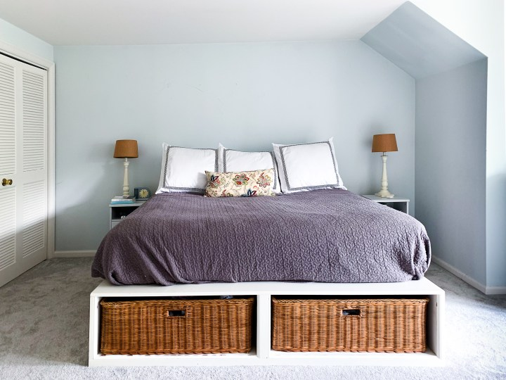 Moody master bedroom makeover | Building Bluebird #bhgorc #outerspace