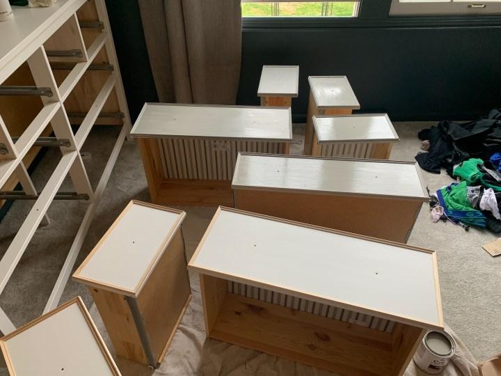 Rustoleum cabinet kit paint on my IKEA dresser | Building Bluebird #hemnes #ikeahack #oneroomchallenge