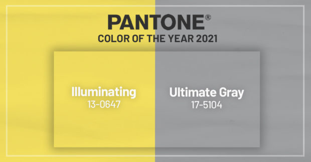 2021 Paint Color Trends - Illuminating and Ultimate Gray by Pantone | Building Bluebird #designtrends #paintcolors #homerenovation #diy #coty #2021coty #coloroftheyear
