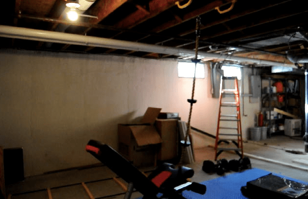 Easy and affordable DIYs to turn your unfinished basement into a welcoming living space | Building Bluebird