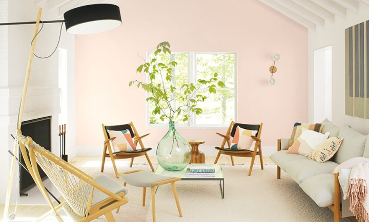 The best neutral pink paint colors to try at home - First Light by Benjamin Moore   Building Bluebird #dustypink #muddypink