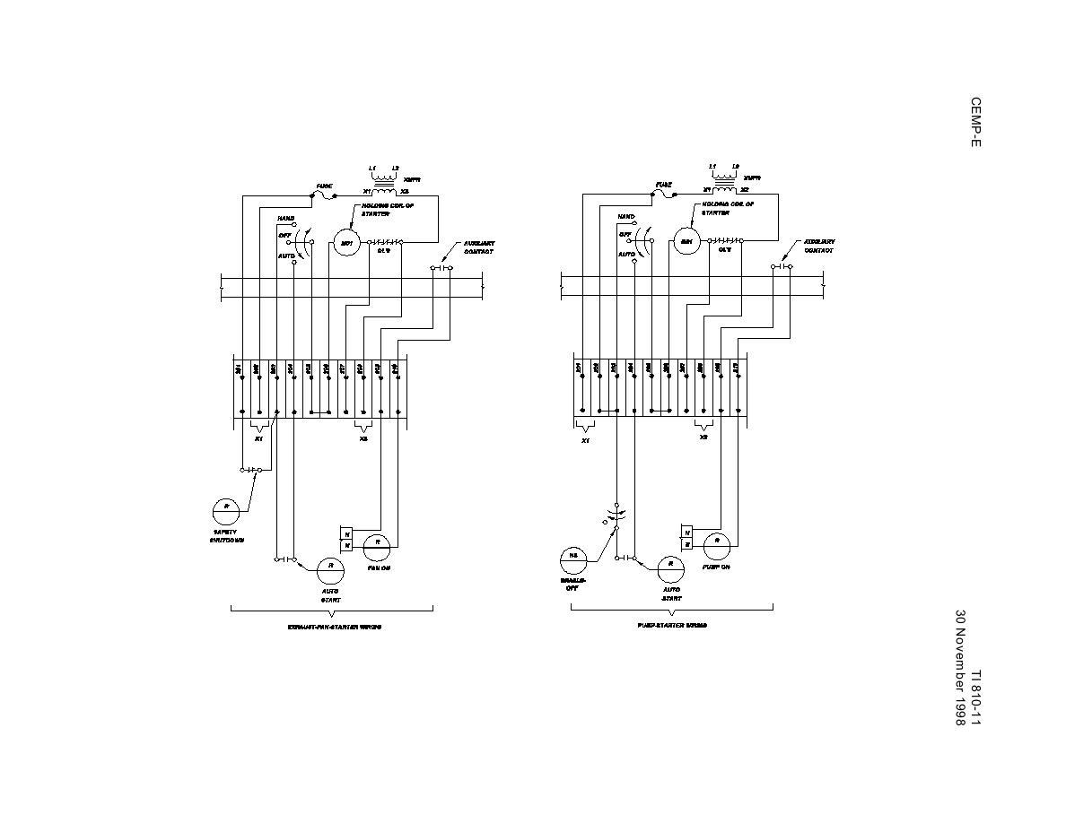 Figure 4 6h Exhaust Fan And Pump Starter Wiring