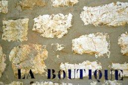 Warm golden tones of the stone walls in St. Paul De Vence, France