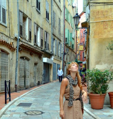 Walking the Street of Grasse, France where I lived for 4 months.