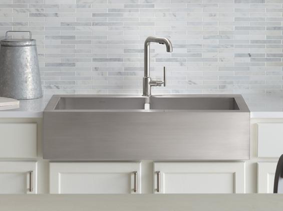 kohler apron front stainless steel kitchen sink discount sale insctock
