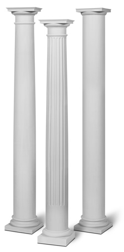 Fiberglass Column Wraps : Round columns rev building materials supplies