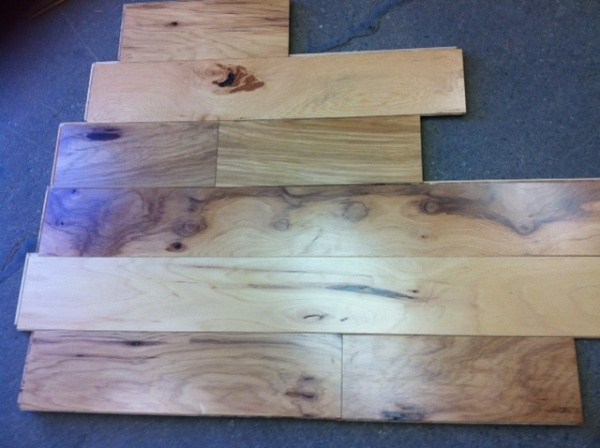 Engineered Pre Finished Hickory Flooring Hardwood Click
