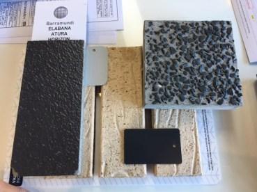 From left: roof tile, colours for gutters, garage door and front door (shale grey), brick, window frames, driveway